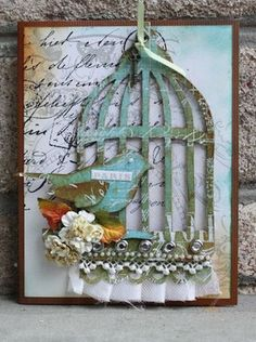 I love the bird and the birdcage! This is so adorable.