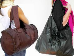 reMade USA upcycles leather jackets into OOAK bags... great photos