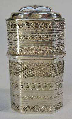 Fries zilveren lodereindoosje, 1921