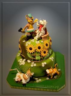 Cake with cartoon characters