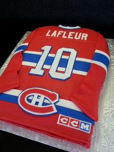 LaFleur jersey - Montreal Canadians Hockey Birthday, Hockey Party, 35th Birthday, Birthday Cake, Hockey Cakes, Cupcake Cakes, Cupcakes, Sport Cakes, Cake Stuff