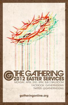 Gathering Easter Poster   Michael Sanders