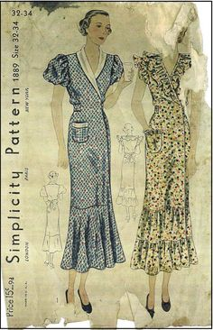 A great running start on putting your prom look together, not just your prom gown, will save you from getting stressed out later whatever information you might have ignored even if you rushed through your preparations. Vintage Dress Patterns, Vintage Dresses, Vintage Outfits, Clothes Patterns, Vintage Shoes, Vintage Clothing, 1930s Fashion, Vintage Fashion, Ladies Fashion