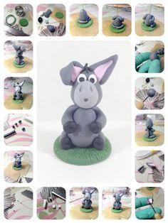 ilfilodelleidee: Asinello allegra, tutorial per la statua in fimo - tutorial polymer clay donkey