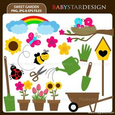 BDsweetgarden Free spring printable toppers
