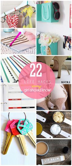 14 Life Hacks Every Girl Should Know. Like pinning cute shopping bags to the wall for storage