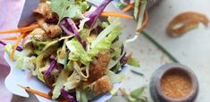 This Chinese chicken salad recipe makes a substantial portion so whip it up for a picnic or prep it on Sunday and enjoy the leftovers all week. Dairy Free Recipes, Diet Recipes, Vegetarian Recipes, Cooking Recipes, Healthy Recipes, Recipes Dinner, Healthy Food, Yummy Recipes, Diet