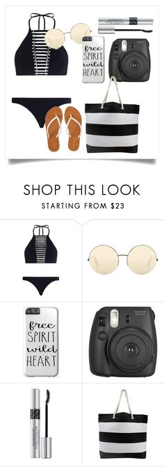 """""""Beach🌊💘"""" by peaceloveyay ❤ liked on Polyvore featuring Zimmermann, Victoria Beckham, American Eagle Outfitters, Fujifilm and Christian Dior"""
