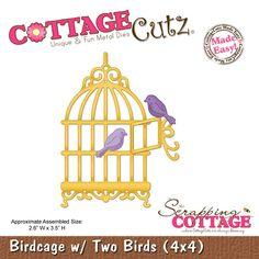CottageCutz Birdcage w/ Two Birds (4x4)