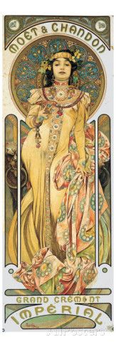 Moet et Chandon Giclee Print by Alphonse Mucha at AllPosters.com