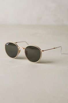 Ray-Ban Round Folding Classic Sunglasses - anthropologie.com