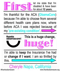 No more denial based on pre-existing conditions!