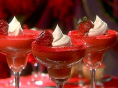 Strawberry Margarita Mousse