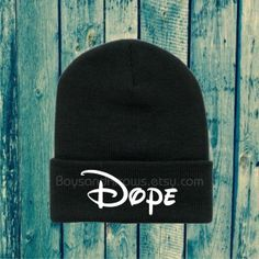 Hey, I found this really awesome Etsy listing at https://www.etsy.com/listing/153482150/dope-black-beanie   Someone please buy this for me