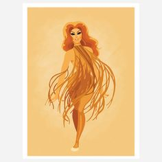 Modern art for the diva in all of us!  Fab.com | Pretty Prints Of Drag Princesses