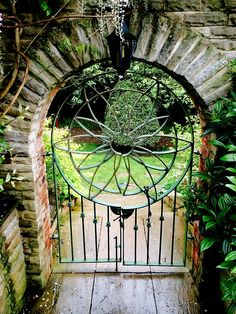 The gate into the garden, Yorkshire