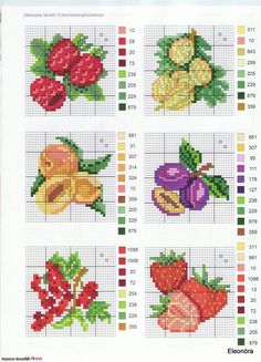 quilting like crazy Cross Stitch Fruit, Cross Stitch Kitchen, Mini Cross Stitch, Cross Stitch Borders, Simple Cross Stitch, Cross Stitch Flowers, Cross Stitch Charts, Cross Stitch Designs, Cross Stitching