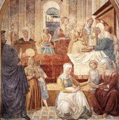 Gozzoli, Benozzo (1420-1497), Scenes from the Life of the Virgin: Birth, Cappella della Visitazione