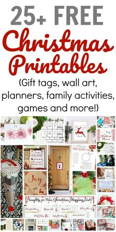 Free Christmas Printables to help make this holiday season a complete success! (Gift tags, wall art, planners, family activities, games and more! Christmas Wall Art, All Things Christmas, Kids Christmas, Christmas Crafts, Christmas Decorations, Modern Christmas, Merry Christmas, Free Christmas Printables, Christmas Activities