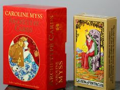 Carolyn Myss Archetype Cards And Queen Of Pentacles Waite Tarot Deck
