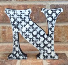 Home Decor Letters - Hand Painted Free Standing Letter Decoration - Black and White Decor - Letter Decor by AJsPrivyCreations on Etsy https://www.etsy.com/listing/193628125/home-decor-letters-hand-painted-free
