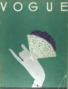 Another Mehemed Fehmy Agha cover design, this time of Vogue, from 1932.