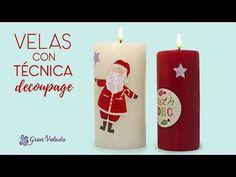Decoracion navideña de velas - YouTube