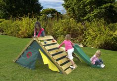 My First Play Centre Wooden Climbing Frame is no longer available, but it's inspiring me to make a structure like that for my kids!