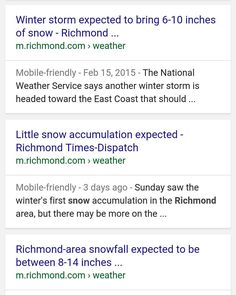 The local news can't seem to decide how much snow we're getting. Or maybe the female meteorologists are saying 6 to 10 inches and the male ones are saying 8 to 14.