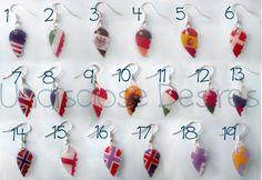 Aph  hetalia earrings  half heart shaped  by Undisclosdesires, €4.00