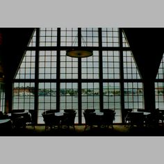 """The view from the Chart House """"lounge"""", this restaurant is located in Eastport, just across Spa Creek, overlooking the Naval Academy and the downtown, old town Annapolis City Dock."""