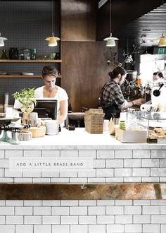 Café Restaurant, Architecture Restaurant, Copper Restaurant, Modern Restaurant, Coffee Shop Design, Cafe Design, Design Design, Coffee Shop Bar, Coffee Shops