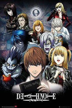 Death Note Poster Japanese Manga TV Show Animation Print Wall Art Large Maxi