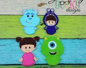 MI Finger Puppet Embroidery Design - Hoop or Larger Felt Diy, Felt Crafts, Diy And Crafts, Crafts For Kids, Felt Finger Puppets, Hand Puppets, Felt Animal Patterns, Stuffed Animal Patterns, Felt Embroidery