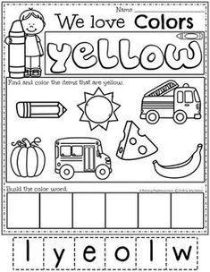 Color Worksheets Join our Email Group for Ideas, Freebies & Special Offers.Do you need fun color worksheets and centers for teaching preschool kids about col Kindergarten Colors, Preschool Colors, Preschool Centers, Preschool Curriculum, Preschool Themes, Preschool Lessons, Preschool Crafts, Homeschooling, Preschool Education