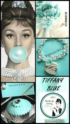 So very iconic. Azul Tiffany, Tiffany And Co, Megan Hess, Tiffany Party, Paint Color Schemes, Tiffany Jewelry, Colour Board, Blue Aesthetic, Color Pallets