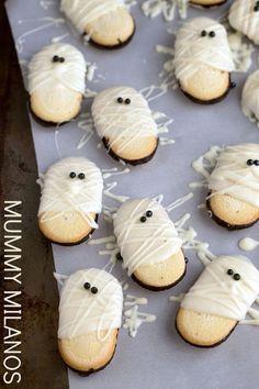Mummy Milanos for Halloween