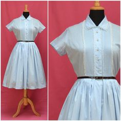 Vintage+dress+1950s+shirtwaister+style+by+VintageGreenClothing,+£59.99