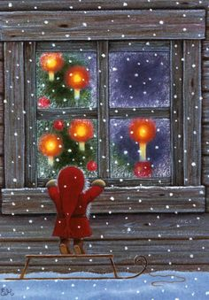 Would be a cute print to hang for Christmas. X'mas time... by Eva Melhuish