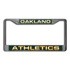 Sabrina wants one of these.    MLB - Oakland Athletics Laser Chrome License Plate Frame