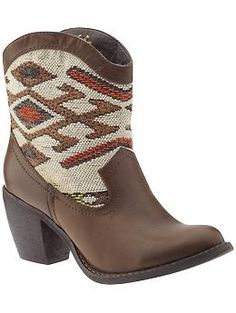 inspiration for boots (using rug scraps)