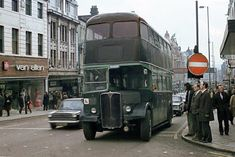 AEC double deck bus in Leeds, England, early Old Pictures, Old Photos, 1970s Looks, Leeds England, Old Lorries, Leeds City, Double Decker Bus, West Yorkshire, My Town