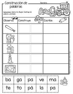Yo aprendo las sílabas - Construcción de palabras