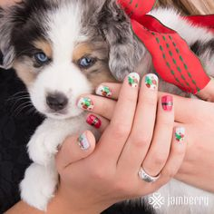 Santa Suit and Season Bright mixed mani. Limited Edition Holiday Wraps from Jamberry! enchantingjams-Independent Jamberry Consultant