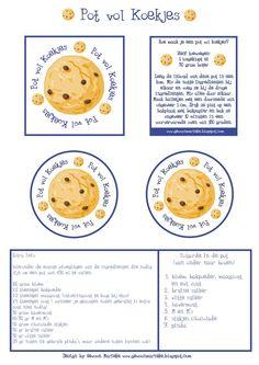 Kado: koekjespot beschrijving recept