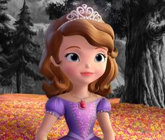 Sofia, the main character from the TV series, Sofia The First who became a princess.You can find Sofia the first. Princess Sofia Party, Princess Sofia The First, Cute Princess, Princess Birthday, Sofia The First Cartoon, Sofia The First Characters, Disney Junior, Disney Jr, Little Disney Princess