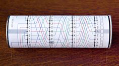 """Papercraft Enigma Machine - WOW. Template & instructions on how to use it at the link. (This would be perfect for scavenger hunts or as an extra nerdy """"card"""" for special occasions!)"""