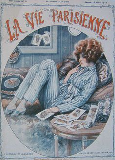 La Vie Parisienne Illustration by Maurice Milliere (and now I am off into my saturday night! La Vie Parisienne, Illustrations And Posters, Background Drawing, Art Deco Illustration, Vintage Artwork, Illustration Art, Vintage Poster Art, Cover Art, Vintage Illustration