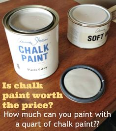 How much can you paint with a quart of chalk paint? www.mybreezyroom.com #DIY #Chalkpaint #ParisGrey