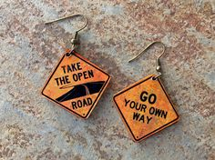 I love these ROAD SIGN EARRINGS by License2wear. I love them b/c of the Fleetwood Mac reference AND they seem particularly appropriate for NZ given the recent earthquakes!